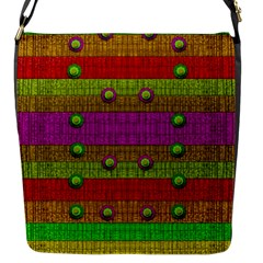 A Wonderful Rainbow And Stars Flap Messenger Bag (s) by pepitasart