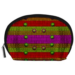A Wonderful Rainbow And Stars Accessory Pouches (Large)
