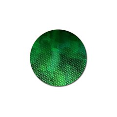 Ombre Green Abstract Forest Golf Ball Marker (10 Pack) by DanaeStudio