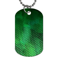 Ombre Green Abstract Forest Dog Tag (two Sides) by DanaeStudio