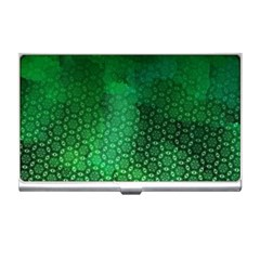 Ombre Green Abstract Forest Business Card Holders by DanaeStudio