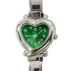 Ombre Green Abstract Forest Heart Italian Charm Watch by DanaeStudio