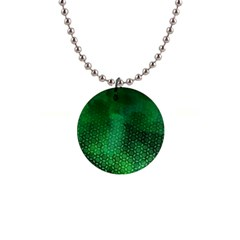 Ombre Green Abstract Forest Button Necklaces by DanaeStudio