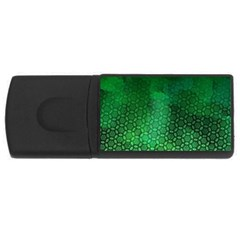 Ombre Green Abstract Forest Usb Flash Drive Rectangular (4 Gb)  by DanaeStudio