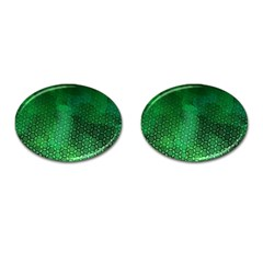 Ombre Green Abstract Forest Cufflinks (oval) by DanaeStudio