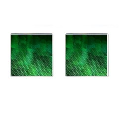 Ombre Green Abstract Forest Cufflinks (square) by DanaeStudio