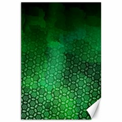 Ombre Green Abstract Forest Canvas 12  X 18   by DanaeStudio