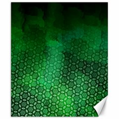 Ombre Green Abstract Forest Canvas 20  X 24   by DanaeStudio