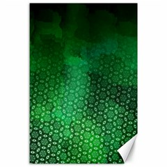 Ombre Green Abstract Forest Canvas 24  X 36  by DanaeStudio