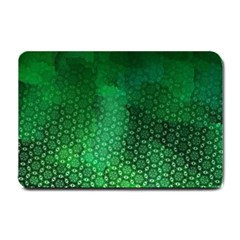 Ombre Green Abstract Forest Small Doormat  by DanaeStudio