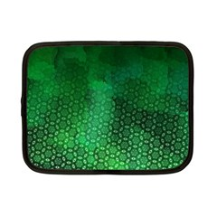 Ombre Green Abstract Forest Netbook Case (small)  by DanaeStudio