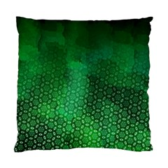 Ombre Green Abstract Forest Standard Cushion Case (one Side) by DanaeStudio