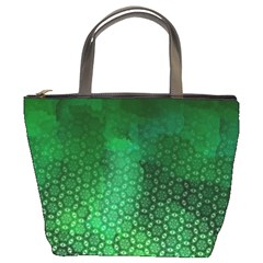 Ombre Green Abstract Forest Bucket Bags by DanaeStudio