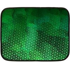 Ombre Green Abstract Forest Double Sided Fleece Blanket (mini)  by DanaeStudio
