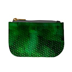 Ombre Green Abstract Forest Mini Coin Purses by DanaeStudio