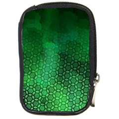 Ombre Green Abstract Forest Compact Camera Cases by DanaeStudio