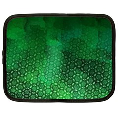 Ombre Green Abstract Forest Netbook Case (xl)  by DanaeStudio