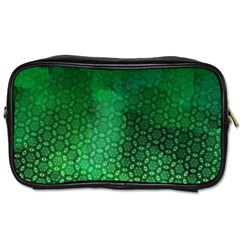 Ombre Green Abstract Forest Toiletries Bags by DanaeStudio