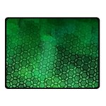 Ombre Green Abstract Forest Fleece Blanket (Small) 50 x40 Blanket Front