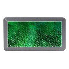 Ombre Green Abstract Forest Memory Card Reader (mini) by DanaeStudio