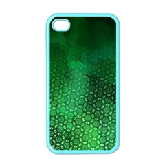 Ombre Green Abstract Forest Apple Iphone 4 Case (color) by DanaeStudio