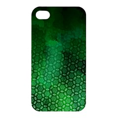 Ombre Green Abstract Forest Apple Iphone 4/4s Hardshell Case by DanaeStudio