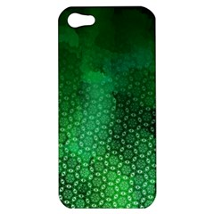 Ombre Green Abstract Forest Apple Iphone 5 Hardshell Case by DanaeStudio