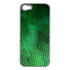 Ombre Green Abstract Forest Apple Iphone 5 Case (silver) by DanaeStudio