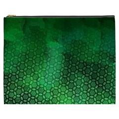 Ombre Green Abstract Forest Cosmetic Bag (xxxl)  by DanaeStudio