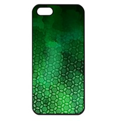 Ombre Green Abstract Forest Apple Iphone 5 Seamless Case (black)