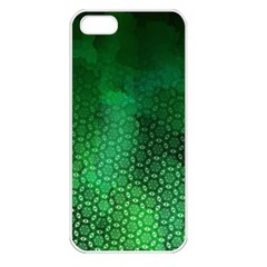 Ombre Green Abstract Forest Apple Iphone 5 Seamless Case (white) by DanaeStudio