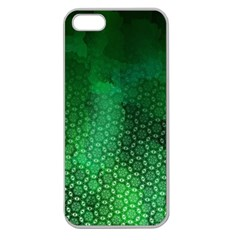 Ombre Green Abstract Forest Apple Seamless Iphone 5 Case (clear) by DanaeStudio