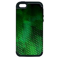 Ombre Green Abstract Forest Apple Iphone 5 Hardshell Case (pc+silicone) by DanaeStudio