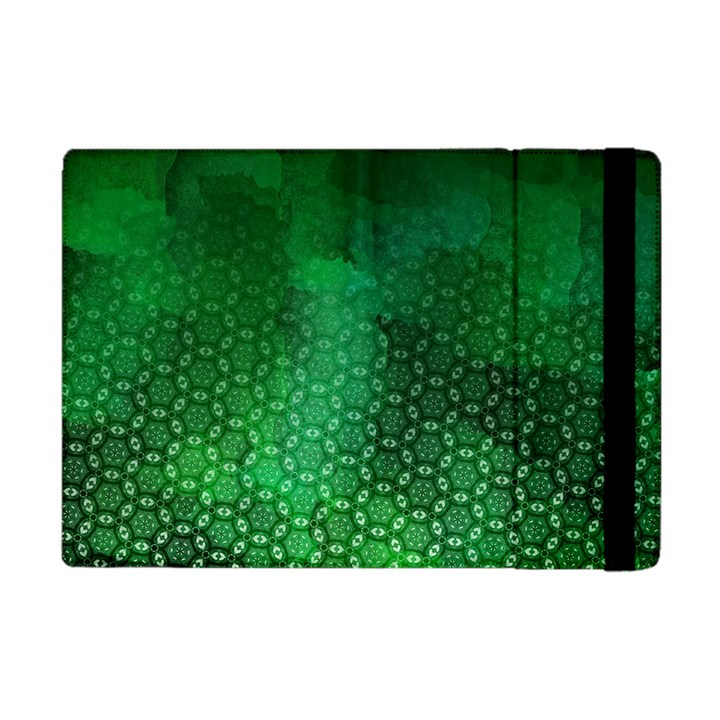 Ombre Green Abstract Forest Apple iPad Mini Flip Case