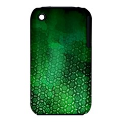 Ombre Green Abstract Forest Apple Iphone 3g/3gs Hardshell Case (pc+silicone) by DanaeStudio