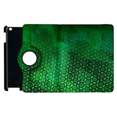Ombre Green Abstract Forest Apple Ipad 3/4 Flip 360 Case by DanaeStudio