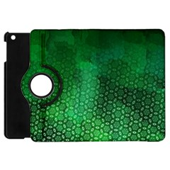 Ombre Green Abstract Forest Apple Ipad Mini Flip 360 Case by DanaeStudio