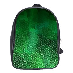 Ombre Green Abstract Forest School Bags (xl)  by DanaeStudio