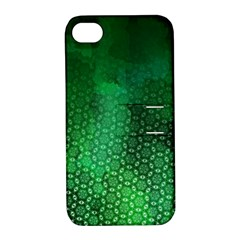Ombre Green Abstract Forest Apple Iphone 4/4s Hardshell Case With Stand by DanaeStudio