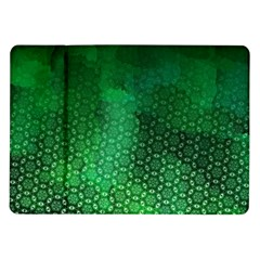 Ombre Green Abstract Forest Samsung Galaxy Tab 10 1  P7500 Flip Case by DanaeStudio