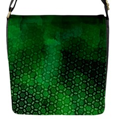 Ombre Green Abstract Forest Flap Messenger Bag (s) by DanaeStudio