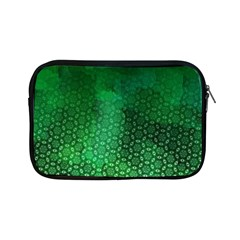 Ombre Green Abstract Forest Apple Ipad Mini Zipper Cases by DanaeStudio