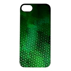 Ombre Green Abstract Forest Apple Iphone 5s/ Se Hardshell Case by DanaeStudio
