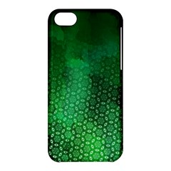 Ombre Green Abstract Forest Apple Iphone 5c Hardshell Case by DanaeStudio
