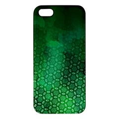 Ombre Green Abstract Forest Iphone 5s/ Se Premium Hardshell Case by DanaeStudio