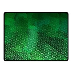 Ombre Green Abstract Forest Double Sided Fleece Blanket (small)  by DanaeStudio
