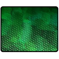 Ombre Green Abstract Forest Double Sided Fleece Blanket (medium)  by DanaeStudio