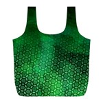 Ombre Green Abstract Forest Full Print Recycle Bags (L)  Front