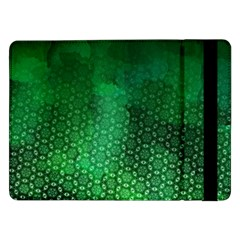 Ombre Green Abstract Forest Samsung Galaxy Tab Pro 12 2  Flip Case by DanaeStudio