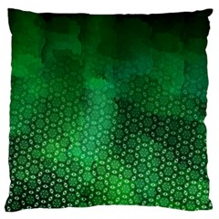 Ombre Green Abstract Forest Large Flano Cushion Case (one Side) by DanaeStudio